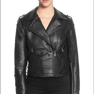 New Catherine Malandrino Star-Studded Moto Jacket